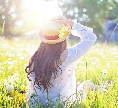 Pelle al sole in primavera