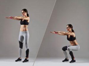 Gli squat sono ottimi esercizi per eliminare le culotte de cheval